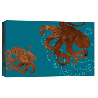 """PTM Images 9-102035  PTM Canvas Collection 8"""" x 10"""" - """"Octopus 1"""" Giclee Octopuses Art Print on Canvas"""