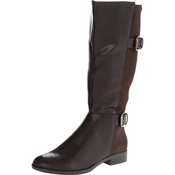 LifeStride Womens Rockin Riding Boots Wide Shaft Faux Leather
