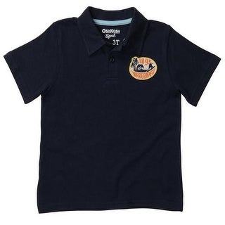 Osh Kosh Boys 2T-4T Navy Ride The Tide Polo Shirt
