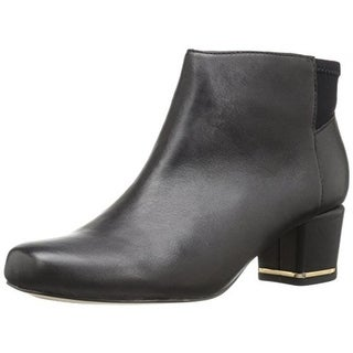 Sudini Womens Madison Ankle Boots Leather Block Heel