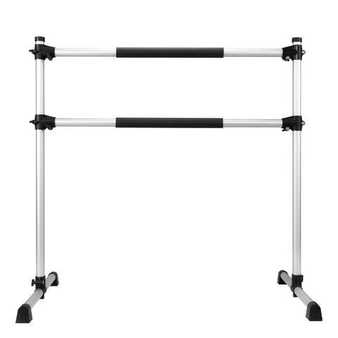 "50"" Aluminum Ballet Barre Portable Double Cross Bars"