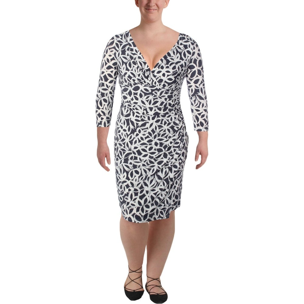 Marc New York by Andrew Marc Womens Sleeveless Popover Lace Dress
