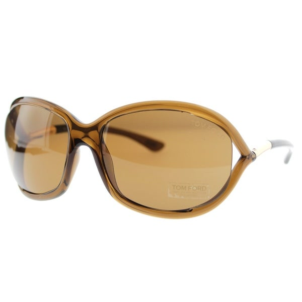 Tom Ford Jennifer TF008 48H Brown Polarized Womens Soft Square Sunglasses - transparent brown - 61mm-16mm-120mm