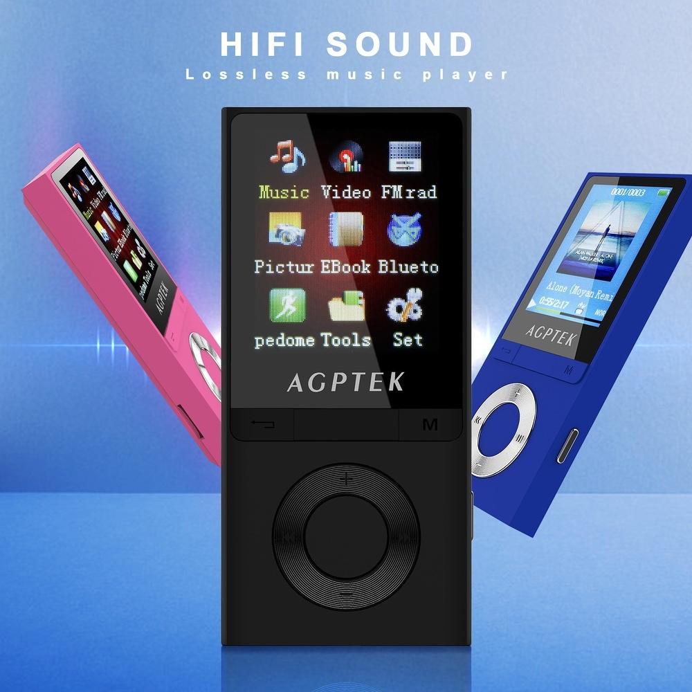 AGPTEK Portable Bluetooth MP3 Music Player HI-FI Soud FM Radio 8GB W/ Headset -  Overstock