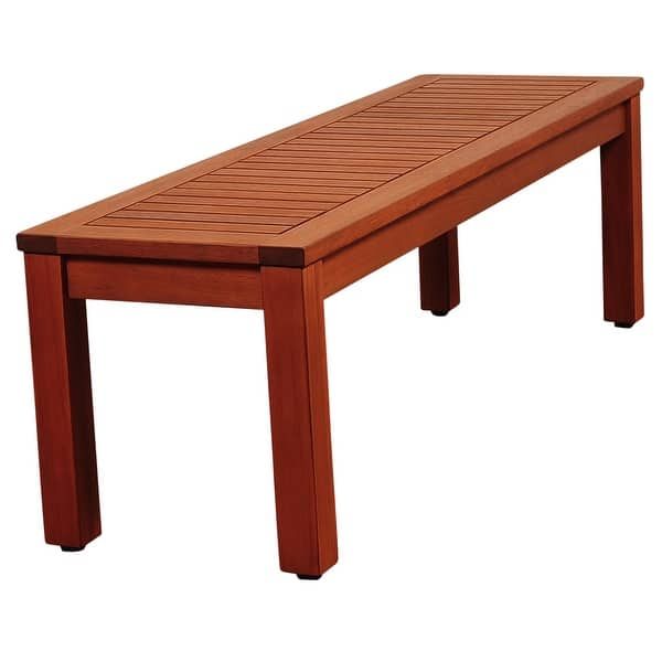 Shop Black Friday Deals On Amazonia Richfield Outdoor Seating Bench Eucalyptus Patio Furniture Overstock 32495190