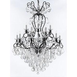 Wrought Iron Crystal Chandelier Lighting