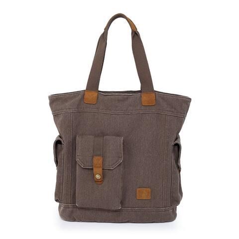 TSD Brand Renegade Camo Canvas Tote Bag