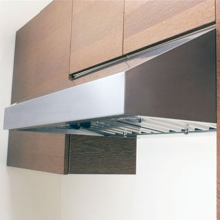 Miseno MH70130AS 750 CFM 30 Inch Stainless Steel Under Cabinet Range with Baffle Filters and Dual Halogen Lighting System