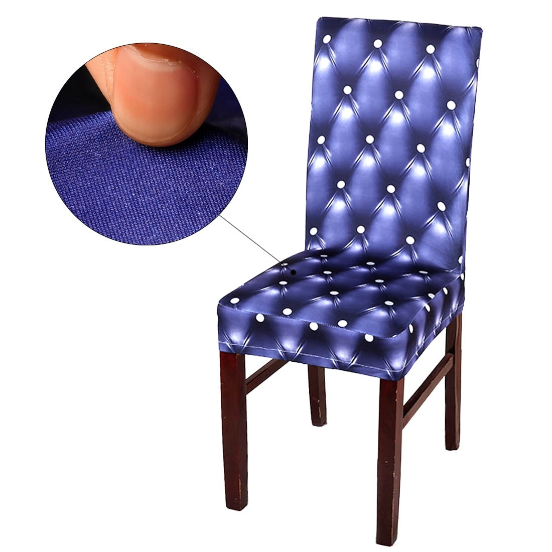 dining chair slipcovers blue