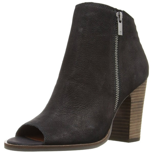 Lucky Brand Womens Lamija Leather Open Toe Ankle Fashion Boots