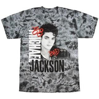 Michael Jackson Men's Bad Tour 1988 Tie Dye T-Shirt