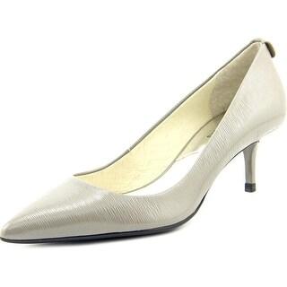 Michael Michael Kors Flex Kitten Pump Women Pointed Toe Patent Leather Heels