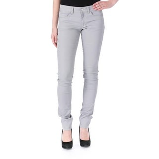 Joseph Womens Eravan Coated Colored Colored Skinny Jeans