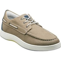 Florsheim Men's Edge Moc Toe Boat Shoe Khaki Nubuck/Canvas