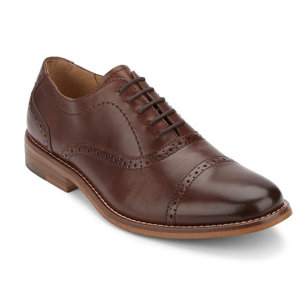 G.H. Bass & Co. Mens Carnell Leather Cap Toe Oxford Shoe
