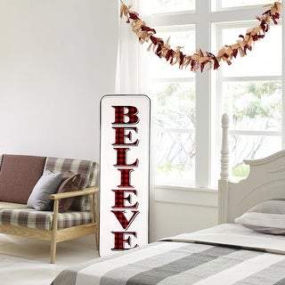 Link to Glitzhome 6 Feet Christmas Red and Black Plaid Fabric Garland Similar Items in Christmas Decorations