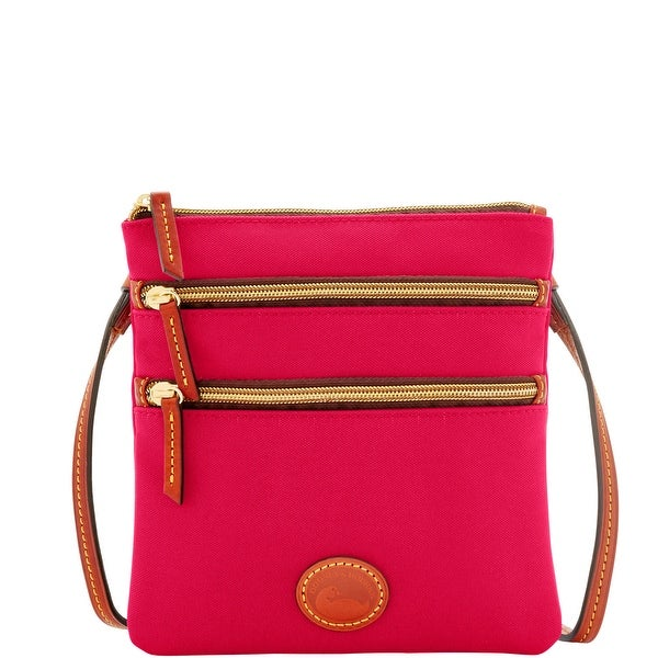 Dooney & Bourke Nylon North South Triple Zip (Introduced by Dooney & Bourke at $89 in Oct 2014) - Pink