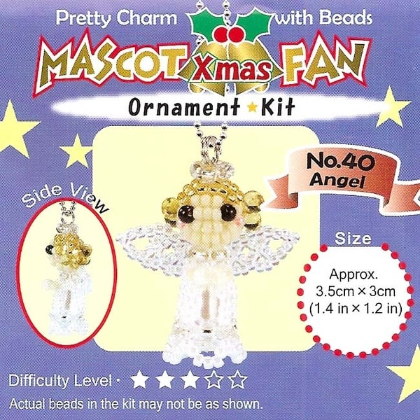 Create Your Own Miyuki Mascot Bead Charm Christmas Ornament Kit - Angel