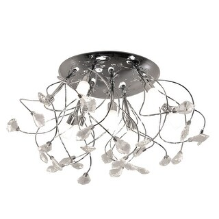 """Bazz Lighting C13509 Glam 9-Light 19-3/4"""" Wide Semi-Flush Ceiling Fixture with Chrome Metal Shade - n/a"""