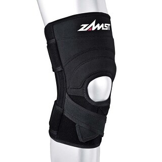 Zamst ZK-7 Injury/Prevention 4X-Large Black Knee Brace with Strong Support