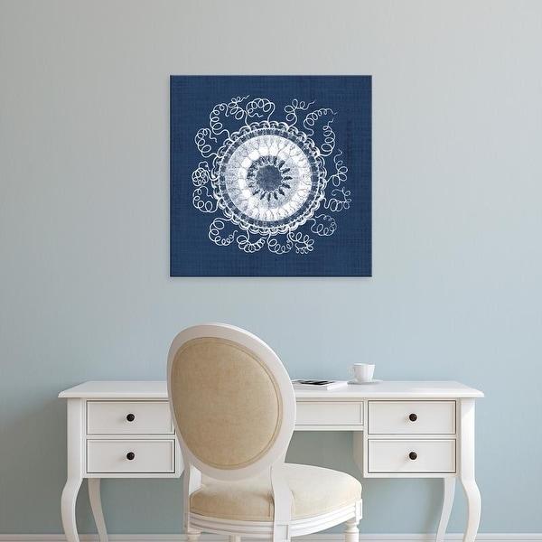 Easy Art Prints Vision Studio's 'Sea Anemone on Indigo IV' Premium Canvas Art
