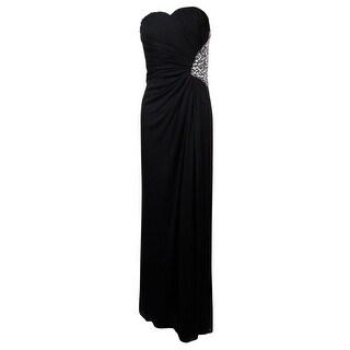 Nightway Women's Side Embellished Sweetheart Chiffon Dress