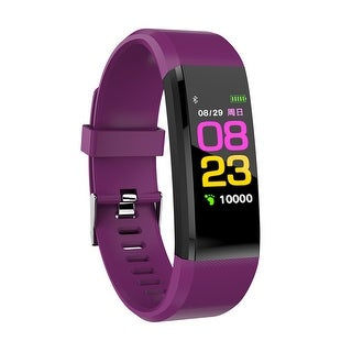 IMAGE FitnessTracker, Heart Rate Monitor Waterproof Activity Tracker, Wireless Smart watch for Android and IOS, Purple