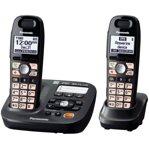 Panasonic Kx-Tg6592t Expandable Cordless Phone With Easy-Read Display- 2 Handsets