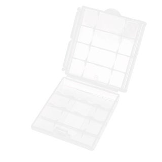 Unique Bargains Sealed Plastic 4 x AA/AAA Battery Box Case Holder Storage
