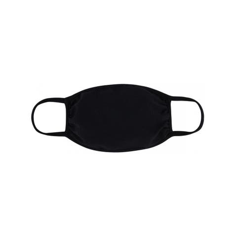 Solid Color Reusable Cloth Face Cover For Children Outdoor Activities - One Size Fits Most
