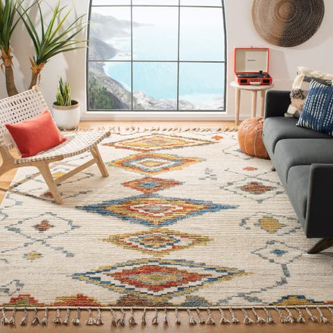 SAFAVIEH Hand-knotted Kenya Marely Southwestern Tribal Wool Rug