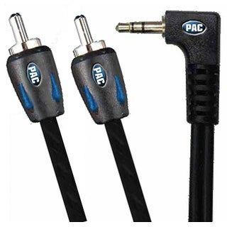 PAC Automotive grade 3.5mm to RCA 6ft long Right Angle