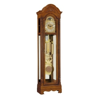 Link to Ridgeway Kingsley Traditional, Elegant, Antique Design, Grandfather Style Chiming Floor Clock with Pendulum and Movements Similar Items in Decorative Accessories