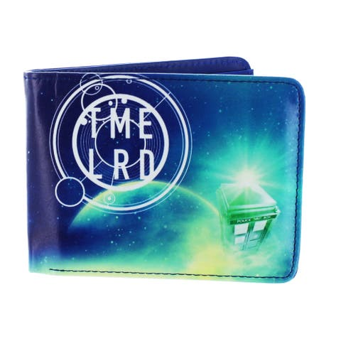 Doctor Who Green Fashion Cosmos Bi-Fold Wallet - Blue