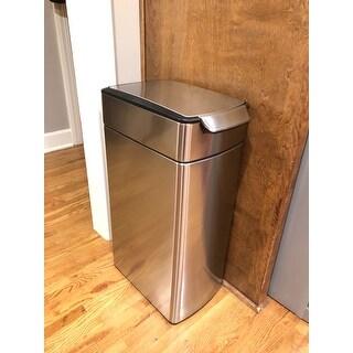 Simplehuman 40 Liter Slim Touch Bar Trash Can Free