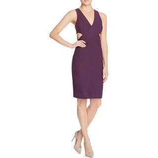 Elizabeth and James Womens Party Dress Ponte Cut-Out