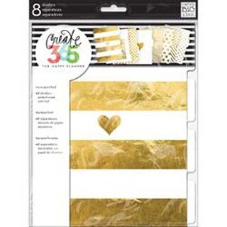 Gold - Create 365 Dividers 8/Pkg