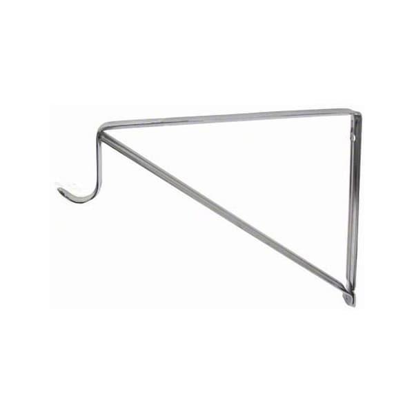 """Knape and Vogt RP0045 Closet Rod and Shelf Support Bracket for 1-1/8"""" Diameter Closet Rods - Chrome"""