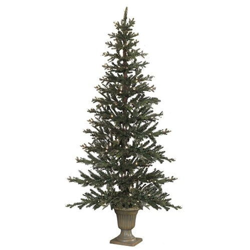 7.5ft Flat Tree in Urn