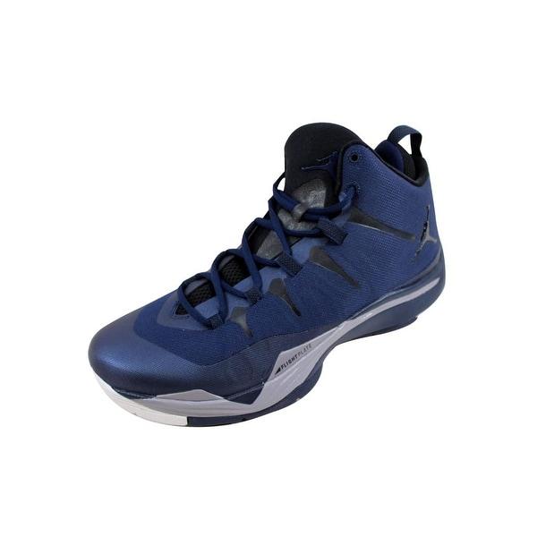 Nike Men's Air Jordan Super Fly 2 Midnight Navy/Black-Cement Grey-White 599945-403