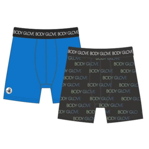 Body Glove 2 Pack Toddler & Boys Boxer Briefs Performance Fabric
