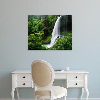 Easy Art Prints Adam Jones's 'Middle North Falls' Premium Canvas Art