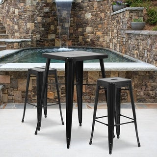 "Link to 4 Pack 30"" High Backless Metal Indoor-Outdoor Barstool with Square Seat Similar Items in Dining Room & Bar Furniture"