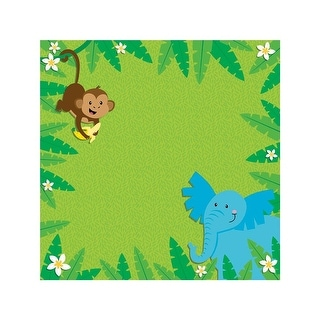 """Easy Peasy Page Layout W/3D Design 12""""X12""""-Jungle Animals"""