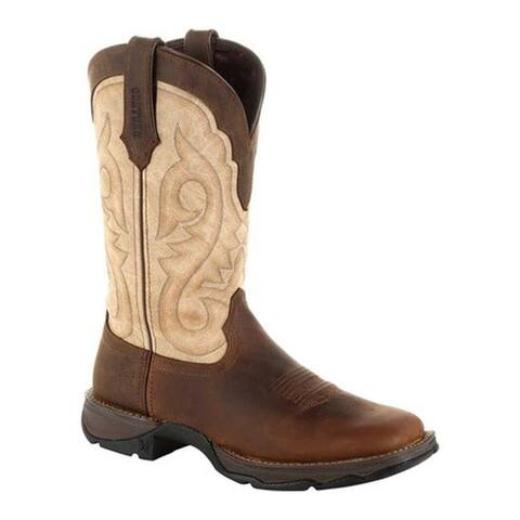 Durango Boot Women's DRD0332 Maverick XP Ventilated Western Work Boot Bark Brown/Taupe Full Grain Leather/Synthetic