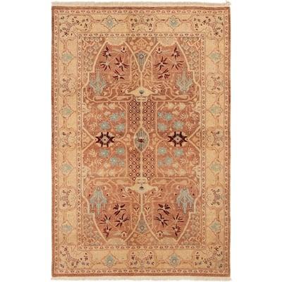 ECARPETGALLERY Hand-knotted Peshawar Oushak Brown Wool Rug - 5'3 x 7'10
