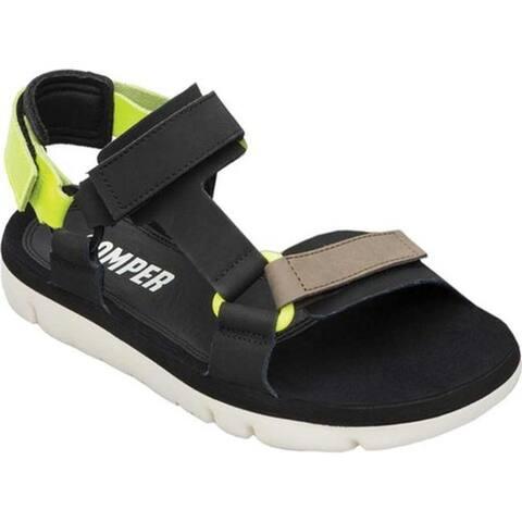 Camper Men's Oruga Sport Sandal Black/Multi Full Grain Leather