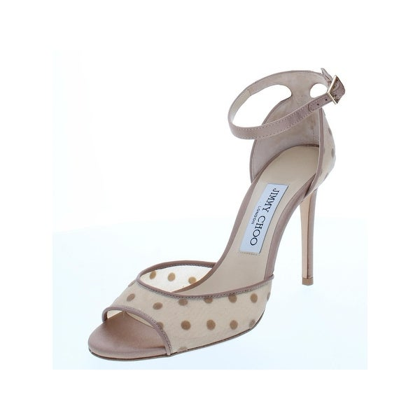 dc5b199f9214 Jimmy Choo Womens Annie Dress Sandals Polka Dot High Heel - 36 Medium (B