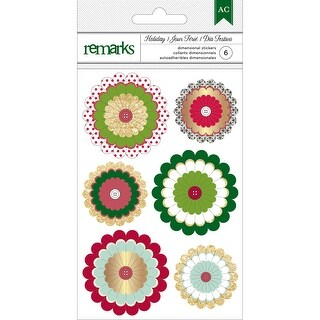 Holiday Remarks 3D Stickers-Delights