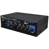 PYLE HOME PTAU45 120-Watt x 2 Stereo Power Amp with USB Reader